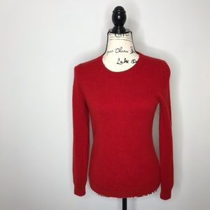 Talbots red 100% cashmere sweater SP